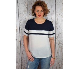 BLOUSE PARIS blauw