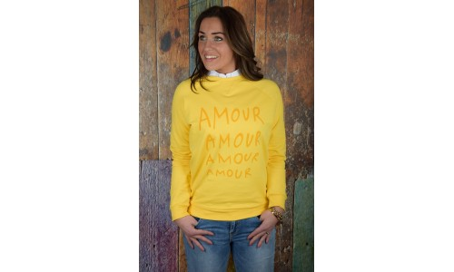 SWEATER AMOUR geel