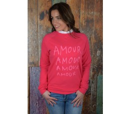 SWEATER AMOUR roze
