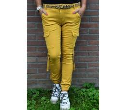 CARGO PANTS geel