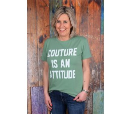COUTURE IS AN ATTITUDE groen