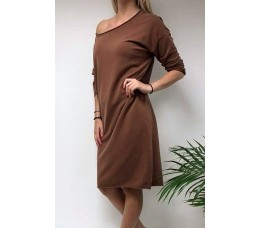 SWEATER DRESS roest