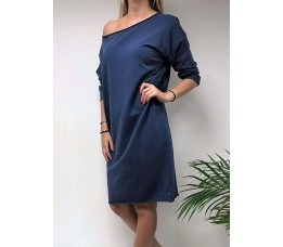 SWEATER DRESS blauw